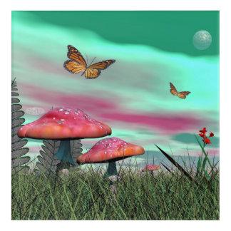 Fantasy garden - 3D render Acrylic Print