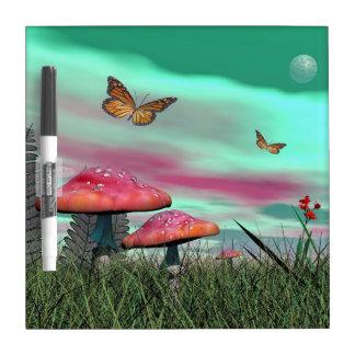 Fantasy garden - 3D render Dry Erase Board