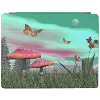 Fantasy garden - 3D render iPad Cover