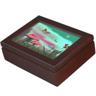 Fantasy garden - 3D render Keepsake Box