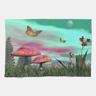 Fantasy garden - 3D render Kitchen Towel