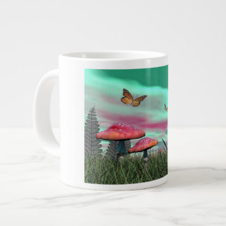 Fantasy garden - 3D render Large Coffee Mug