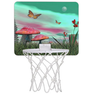 Fantasy garden - 3D render Mini Basketball Hoop