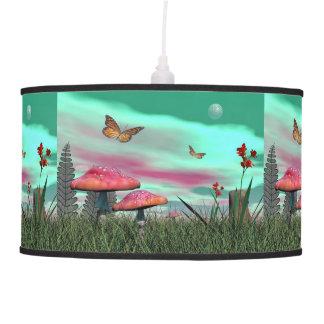 Fantasy garden - 3D render Pendant Lamp