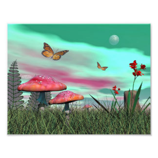Fantasy garden - 3D render Photo Print