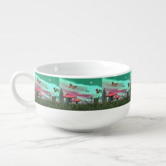 Fantasy garden - 3D render Soup Mug