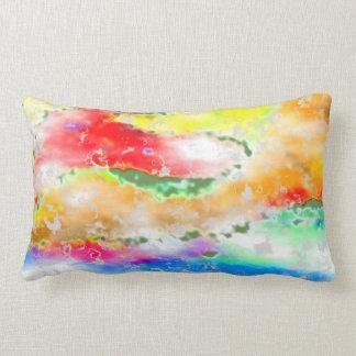 Fantasy Garden Imaginary Landscape Lumbar Pillow