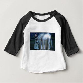 Fantasy Girl and Unicorn in the Moonlight Baby T-Shirt