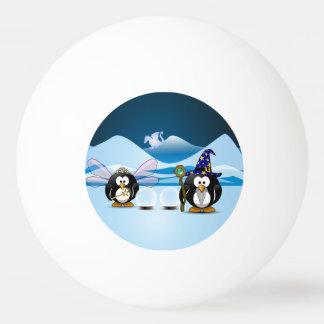 Fantasy Glacier Penguins Wizard Fairy Crystal Ball Ping Pong Ball