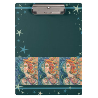 Fantasy Goddess Clipboard with Moon and Sun