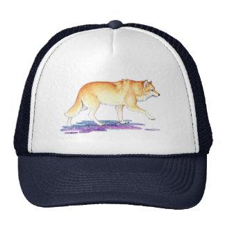 Fantasy Golden Star Creation Wolf Trucker Hat