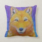 Fantasy Golden Wolf Head Pillow