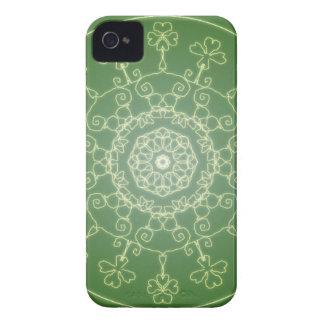Fantasy Goth Mandala  Four Leaf Clover Irish Luck iPhone 4 Cover