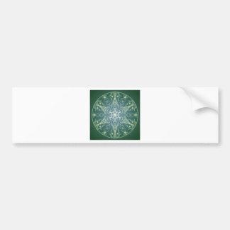 Fantasy Goth Mandala Green Elf Crystal Ball Bumper Sticker