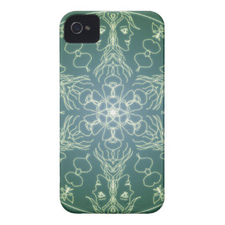 Fantasy Goth Mandala Green Elf Crystal Ball iPhone 4 Case-Mate Case