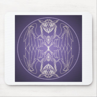 Fantasy Goth Mandala Griffon Crystal Ball Mouse Pad