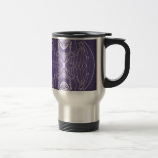 Fantasy Goth Mandala Griffon Crystal Ball Travel Mug