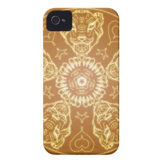 Fantasy Goth Mandala Tiger Cat Crystal Ball iPhone 4 Case