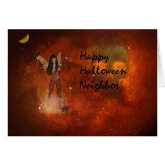 Fantasy Halloween Card for Neighbor
