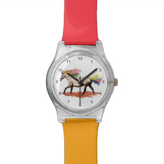 Fantasy Horse, Rainbow Mane and Tail Wrist Watch