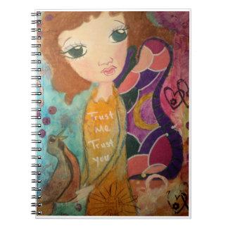 Fantasy image Trust fairy notebook