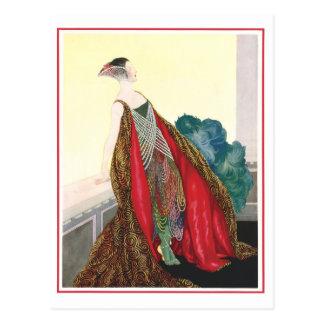 """Fantasy Lady 2"" Vintage Postcard"