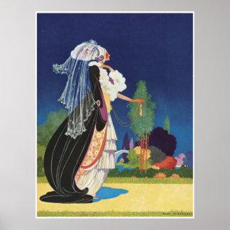 """Fantasy Lady"" Vintage Poster"