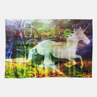Fantasy Land Fairy Tale Unicorn Kitchen Towel