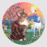 Fantasy Land (ff) - Maine Coon cat (tabby) Sticker