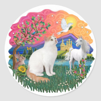 Fantasy Land (ff) - Turkish Van catt Classic Round Sticker