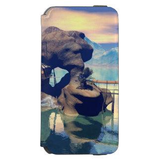 Fantasy landscape with a rock in the ocean incipio watson™ iPhone 6 wallet case