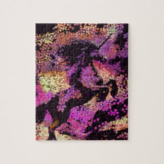 Fantasy Magic Unicorn Abstract Art Jigsaw Puzzle