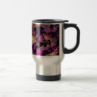 Fantasy Magic Unicorn Abstract Art Travel Mug