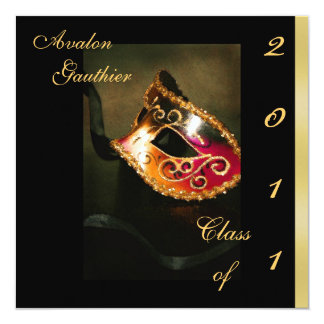 Fantasy Masquerade Class Of Graduation Invitation