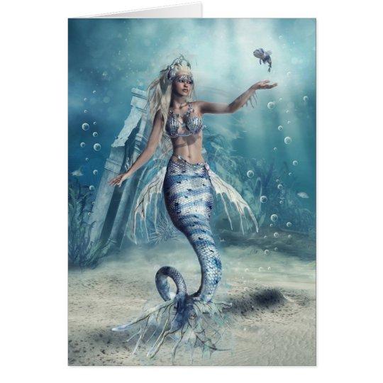 Fantasy Mermaid Greeting Card