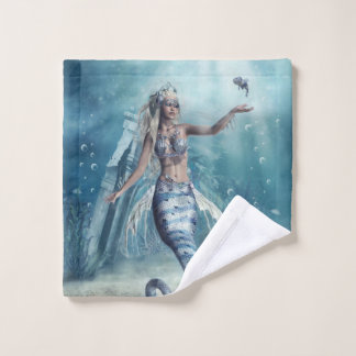 Fantasy Mermaid Wash Cloth