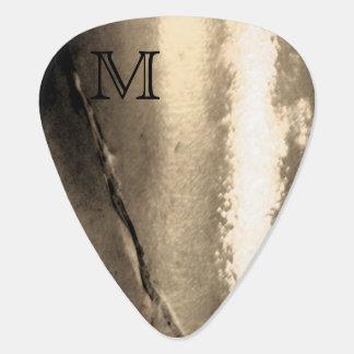 Fantasy Monogram Cracked Metal Guitar Pick