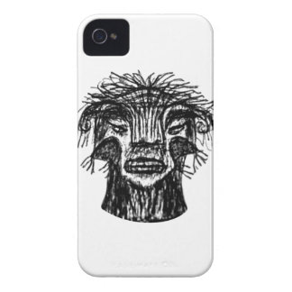 Fantasy Monster Head Drawing Case-Mate iPhone 4 Cases