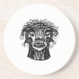 Fantasy Monster Head Drawing Coaster