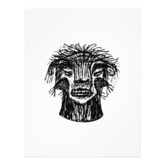 Fantasy Monster Head Drawing Letterhead