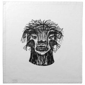 Fantasy Monster Head Drawing Napkin