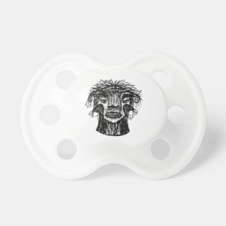 Fantasy Monster Head Drawing Pacifier