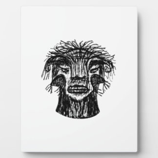Fantasy Monster Head Drawing Plaque
