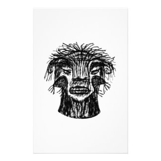 Fantasy Monster Head Drawing Stationery