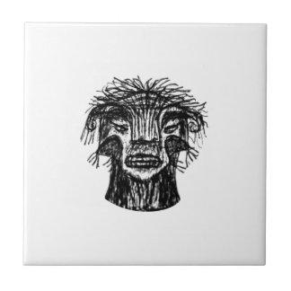 Fantasy Monster Head Drawing Tile