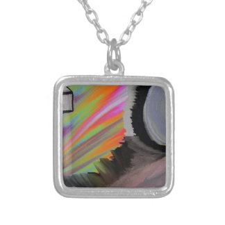 fantasy of reptilians time &universal power silver plated necklace