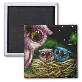 FANTASY OWLS Magnet