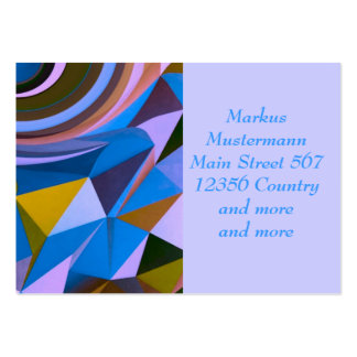 Fantasy pattern mix,blue (I) Business Cards