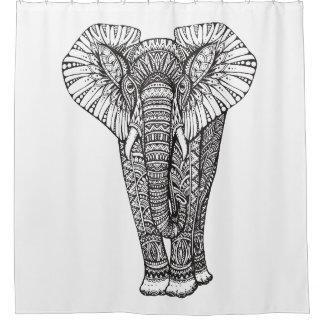 Fantasy Patterned Elephant Doodle