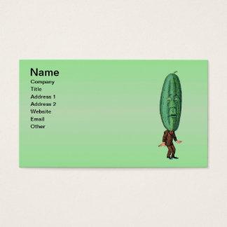 Fantasy Pickle Man Brown Suit Business Card
